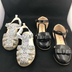 Girls size 11 sandal dress shoe bundle Oshkosh